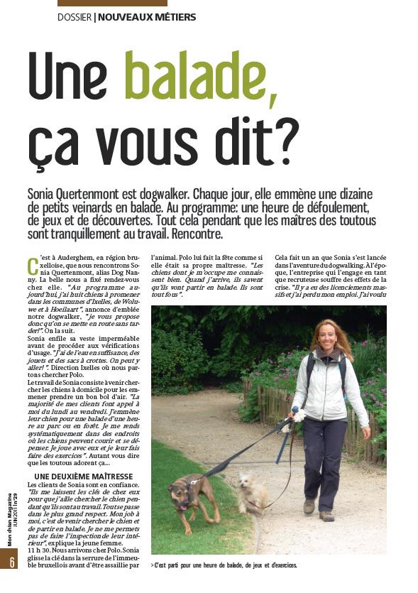 """""""Une ballade ça vous dit ?"""" - Mon Chien Magazine - N°29 - Juin 2011"""