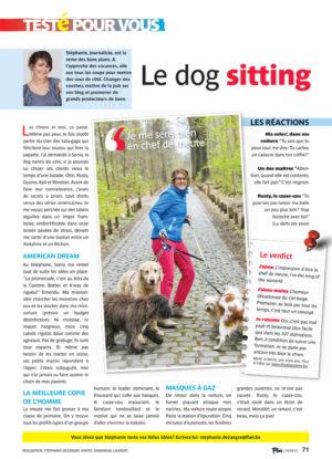 Testé pour vous: le dog sitting – Flair n°20/1278 – 16/05/2012